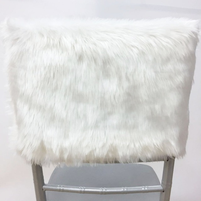 faux fur chair cover leather repair new coming hot sale 10pcs lot chiavari cap for christmas wedding party home decoration