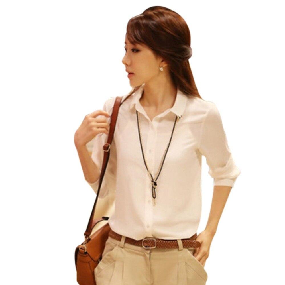 Autumn Blazers White Shirt Turn-down Neck Casual Tops Blazers Clothes Fashion Women Clothing Summer Long Sleeve Blazers