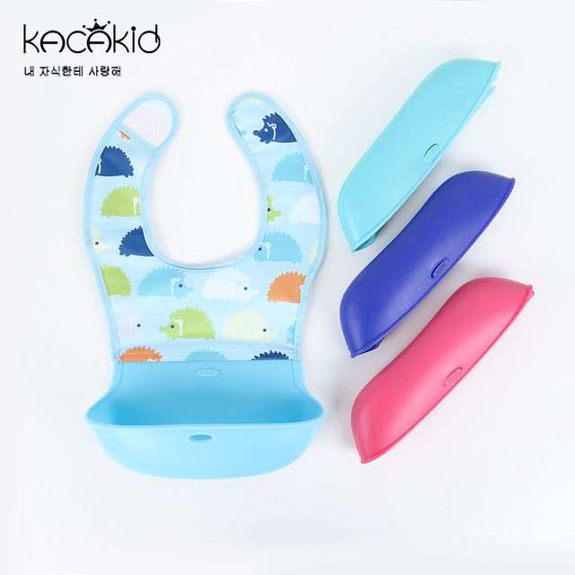 KACAKID Unisex Baby Bibs Girl Boy Bib Waterproof Removable Feeding Baby Towel Kids Cute Animals Silicone Baby Bib Fodable ka5092
