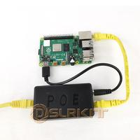 DSLRKIT 5V 3A 4A 20 ватт гигабитный Raspberry Pi 4 4B активный сплиттер POE USB TYPE C Ethernet