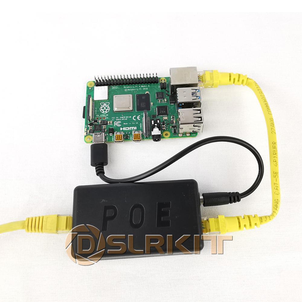 DSLRKIT 5V 3A 4A 20Watt Gigabit Raspberry Pi 4 4B Active PoE Splitter USB TYPE C Ethernet