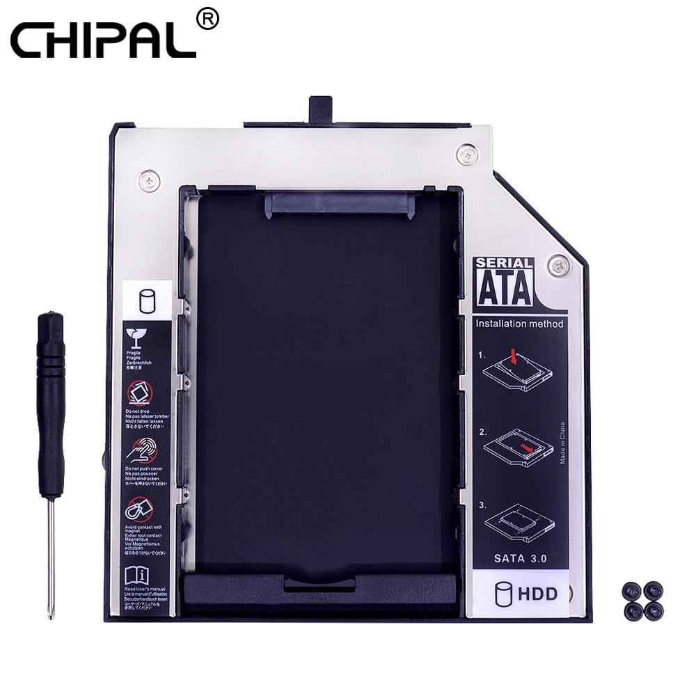 "100% Wahr Chipal 2nd Hdd Caddy 9,5mm Sata 3,0 Für 2,5 ""2 T Ssd Hdd Gehäuse Für Lenovo Thinkpad T400 T400s T500 W500 T410 T410s Dvd/cd-rom"