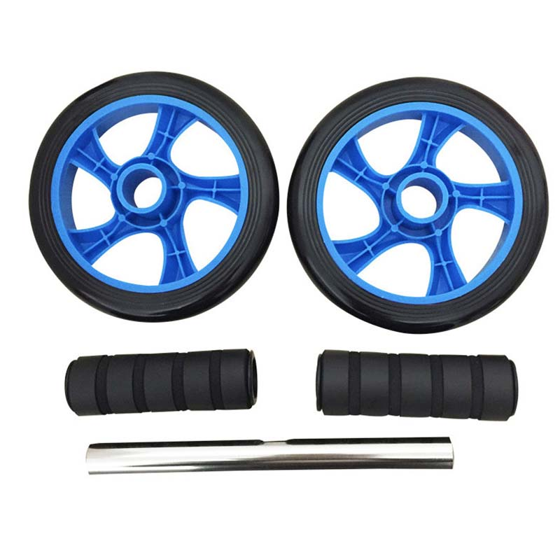 Ab Wheel Roller With Mat Knee Kneel Pad Double Wheel