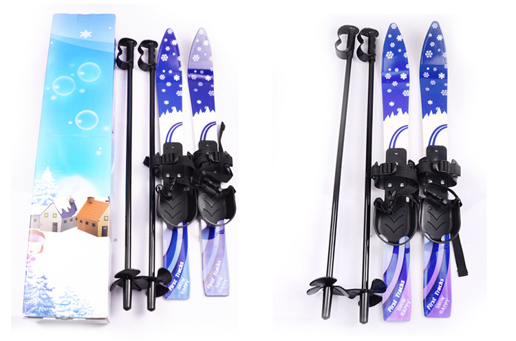 1pc China Hot Sale Ski Snowboard With Ski Poles Bindings Boots  For Junior Children Kids Beginner