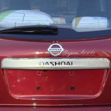 Car Styling Cover Chromed ABS Plastic Rear Trunk Lid Cover Trim For Nissan Qashqai 2007-2012 2011 2010