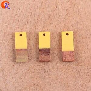 Image 5 - Cordial tasarım 50 adet 9*23MM takı aksesuarları/küpe yapımı/kare şekli/doğal ahşap ve reçine/el yapımı/küpe bulguları