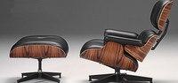 Mid Century современный классический палисандр фанера шезлонг стул и Османской Премиум высокого класса кожаная тахта без подлокотников поворот