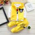 Baby tracksuit boys clothes autumn Mickey 1-4 years baby boys clothing 3 pcs suit vest+T-Shirt+Pants baby girls clothing sets