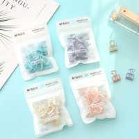 12 piezas/10 piezas de color del arco iris planificador binder clips de papel clips arte decorativo suministros de oficina organizador