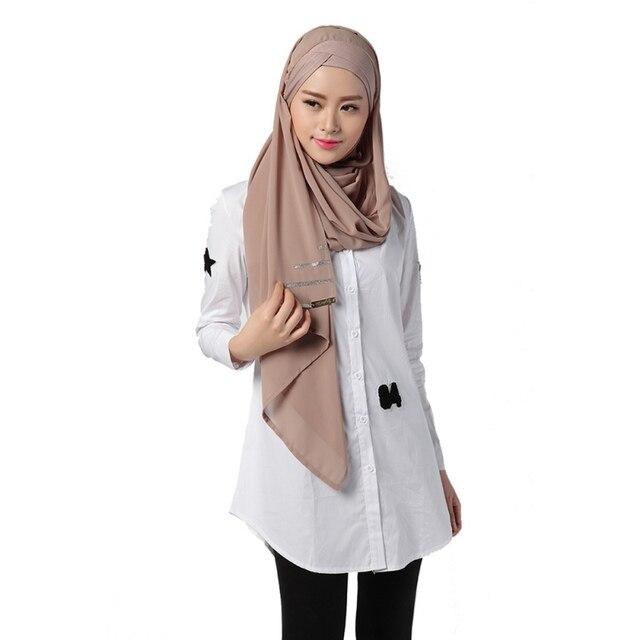 6f537580c69be Femmes D été Chemise Blanche Musulman Longue Chemises Turc Islamique Arabe  Mode Caftan