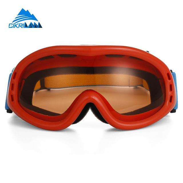 Adulte Snow Lunettes de ski coloré objectif Motocross anti-buée Mode protection des yeux Lunettes de sport, Homme, red