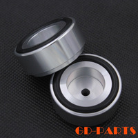4PCS 38x17mm Silver Solid Full Aluminum Isolation Feet Stands Pads For Turntable CD Player Speaker Amplifier