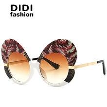 Диди 2017 европа италия бабочка Солнцезащитные очки для женщин Для женщин Кошачий глаз розовый леопард со змеиным принтом партия знаменитости Защита от солнца Очки панк звезда W667