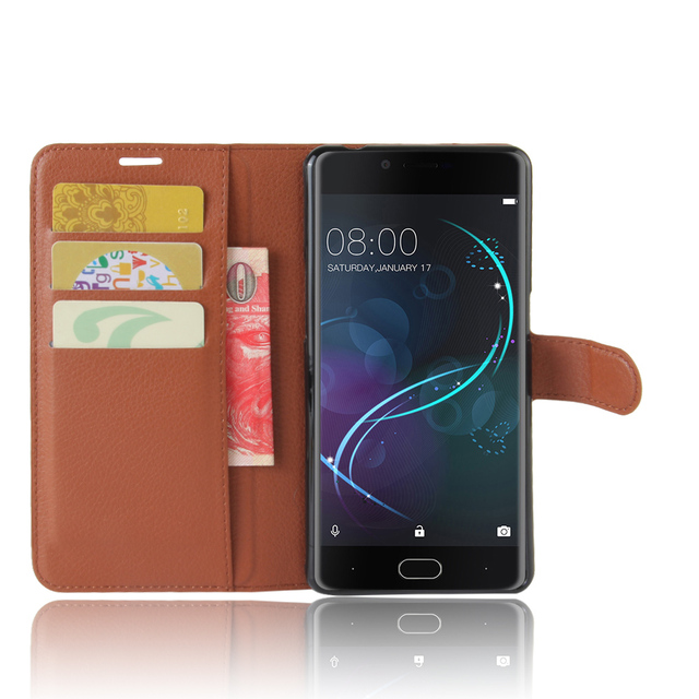 Doogee Shoot 1 Case Litchi Texture Leather Case for Doogee Shoot 1 Flip Cover Case Wallet Style Magnetic Protective Shell