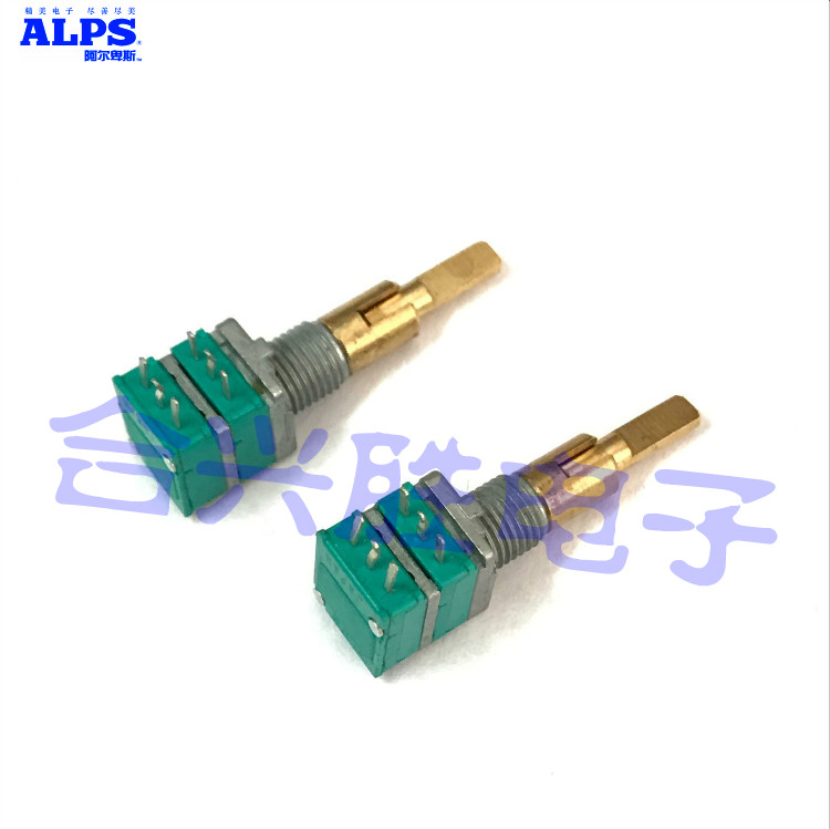 Japan ALPS two-axis double precision potentiometer type RK097 B10K amplifier car audio navigation volume supply game dedicated potentiometer rv24yn b5k 20b1k b10k