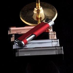 Image 5 - רצועת Jet בוטאן סיגר מצית לפיד טורבו צינור מצית סיגריות 1300 C אש Windproof אין גז