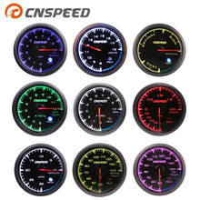 Shark style 2.5 60mm Turbo Boost gauge Oil Temp press Volt Tachometer Water temp Air fuel Ratio Exhaust gas temp with 7 Colors