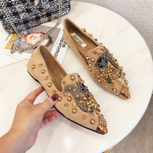 SWYIVY Flat Shoes Woman 2019 Spring Slip On Sneakers Shoes Casual Female Womens Shoes Flat With Rhinestone  Rivet Flat Woman