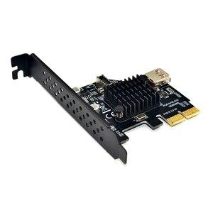 Image 2 - Thêm Trên Thẻ Pci Express 3.0 Usb 3.1 Pci E Card Pcie Adapter Usb Raiser Loại E Usb3.1 Gen2 10gbps + Usb2.0 Thẻ Nhớ Mở Rộng