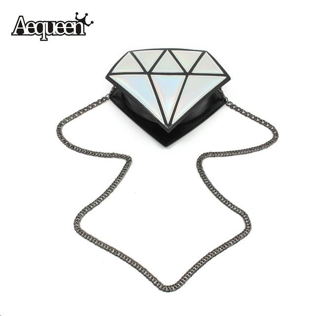 3D Mulheres Bolsa em Forma de Diamante Cadeia Senhora Menina Pequena bolsa de Ombro Mensageiro Crossbody Satchel Tote Patchwork Evening Sacos de Cores Dos Doces