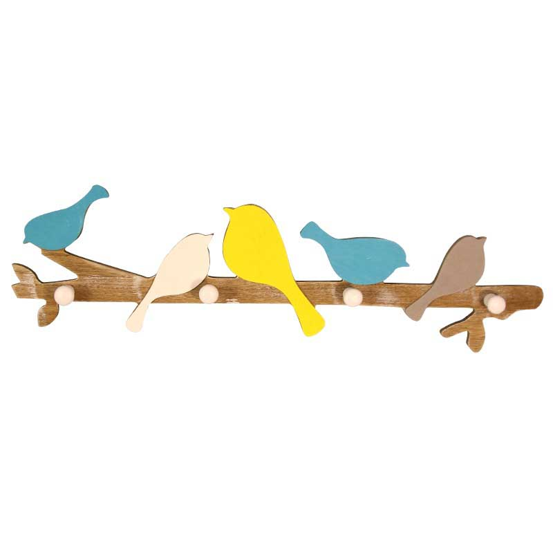 Купить с кэшбэком European Retro Style Hanger  childish coat hat  colorful wood rack, coat rack  wall hanging decoration home furniture 4 HOOKS
