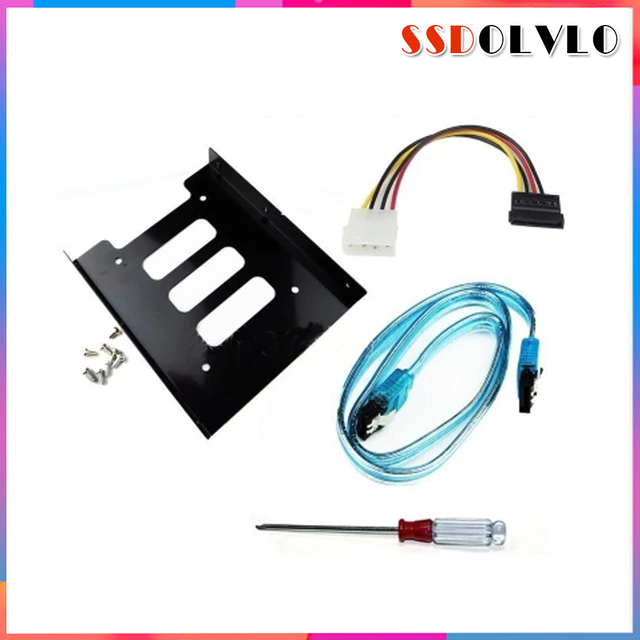 2.5'' SSD HDD To 3.5'' Mounting Adapter Bracket Dock Hard Drive Holder For 120 128 240 256 360 480 960 GB