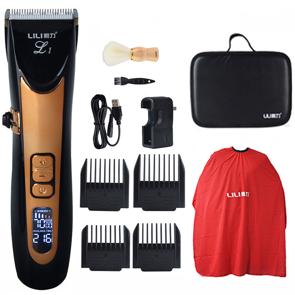 Barber Salon Professional Hair Trimmer clipper Digital LCD Hair Clippers Grooming Beard Trimmer hair Shaver Machine