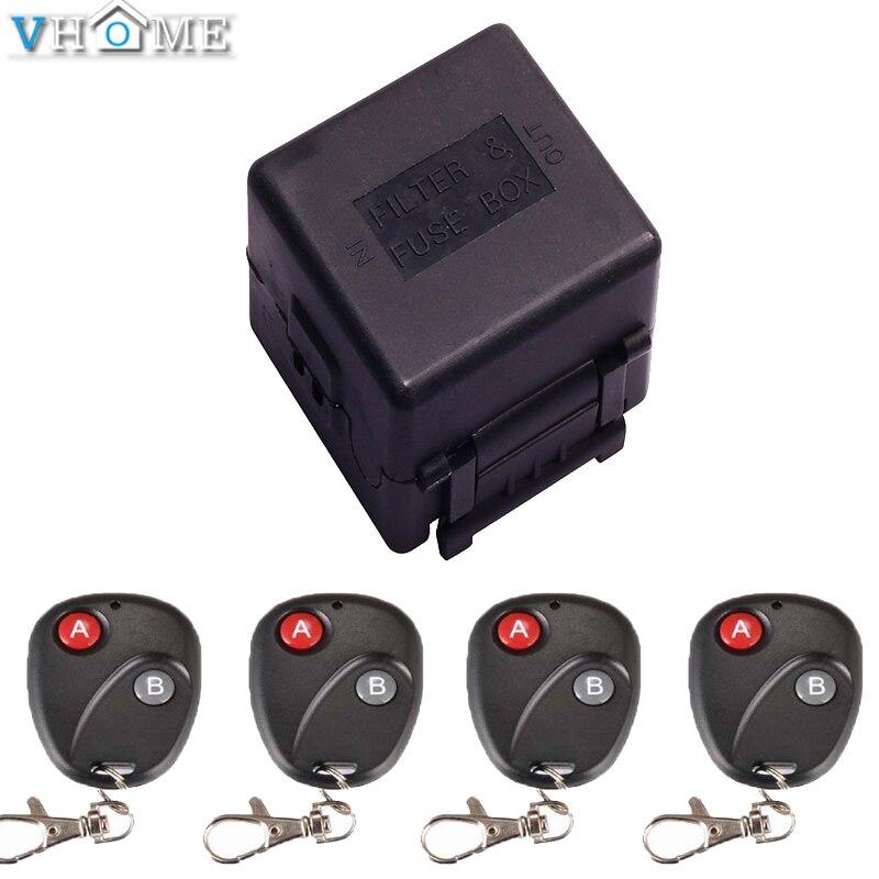 Vhome Universal 1CH 1 CH wireless Intelligent remote control switch Receiver module 433MHz RF Remote Control Switch Transmitter 2 working ways rf wireless intelligent