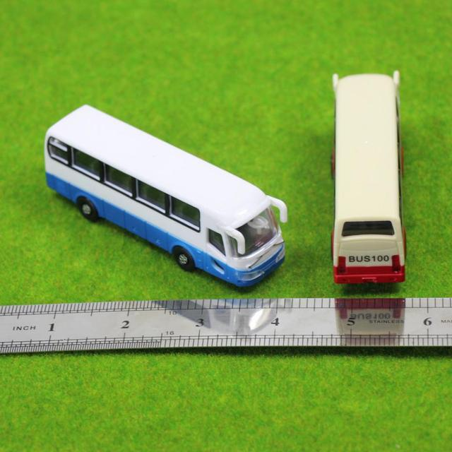 2pcs Model Cars Buses 1:100 TT HO Scale Railway Layout Plastic NEW Free Shipping  BS10001  railway modeling 5