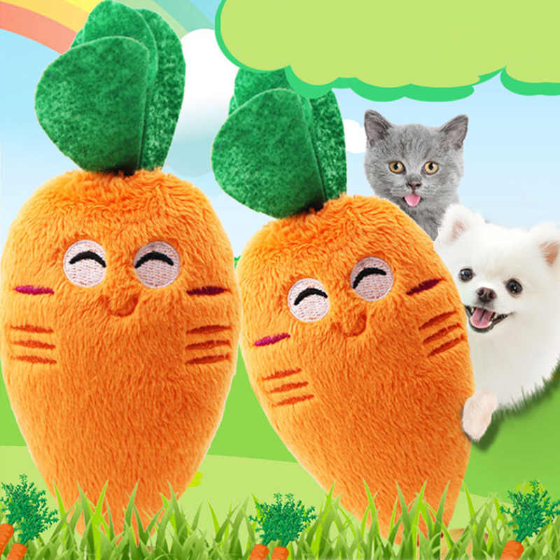 Pet Cat Toy Plush Canvas Bite Toys for Cat Cite Vocal Creative Simulation Animals Vegetable Fruit Toy Chew Squeaky Toys for Pet3