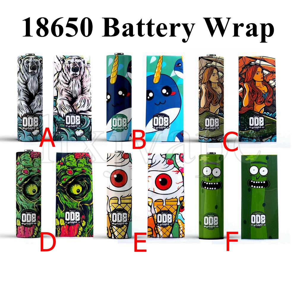 5pcs 18650 Battery Wrap Sticker Cover Skin For 18650 Battery Vape Electronic Cigarette Accessories ODB Series Sleeve Case
