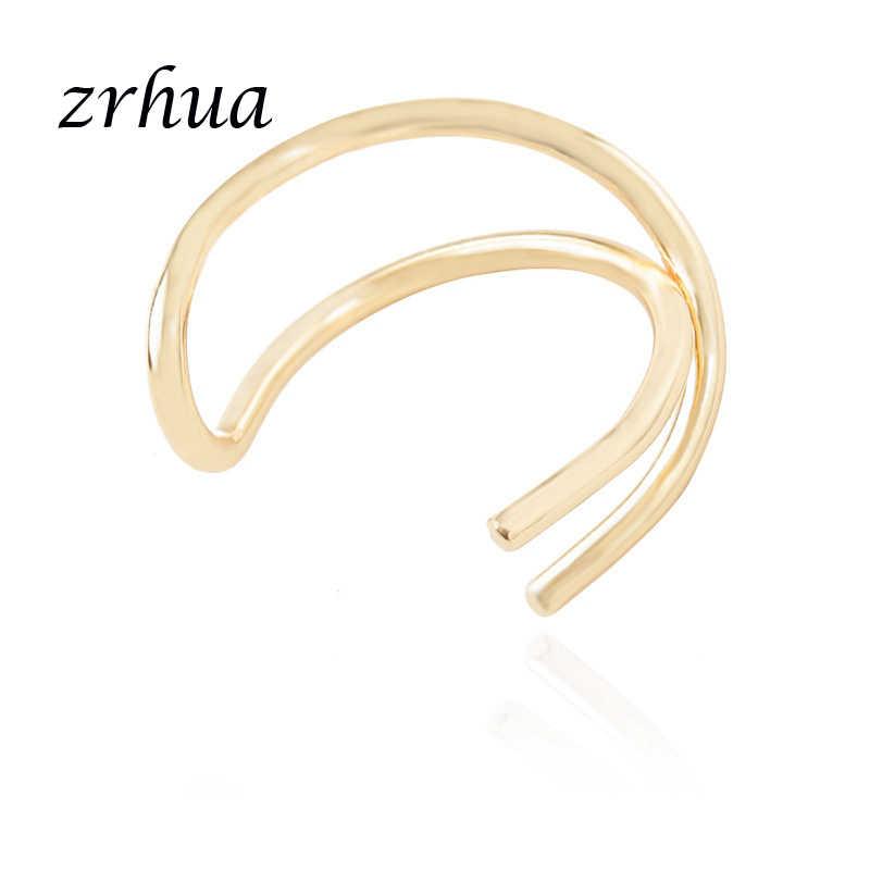 ZRHUA ใหม่ Hollow คลิปต่างหูผู้หญิงแฟชั่นโลหะต่างหู Elegant Graceful Lady ขายร้อนเครื่องประดับของขวัญ One PCS