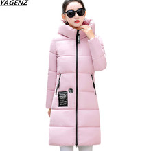 2017 New Arrival Casual Warm Long Sleeve Ladies Basic Coat Feminina Jacket Women Parkas Cotton Women Winter Jacket YAGENZ Ok588