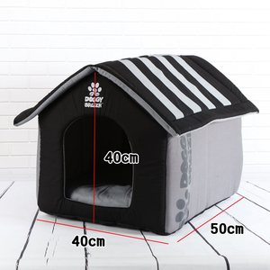 Image 5 - Fashion Removable Cover Mat Foldable Dog House Kennel Dog Beds For Small Medium Large Dogs Pet Products House Pet Beds for Cat