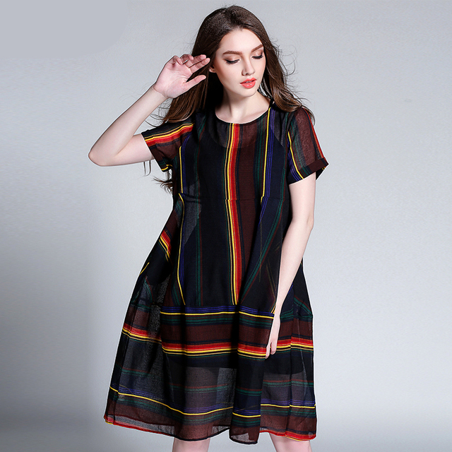 2017 Casual Women Summer Beach Fat Large Big Plus Size Cotton Linen  Bohemian Boho Chic Dress Vestido Tunic Clothing Robe Femme de742563d2b8