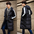 Plus size S-5XL 2016 men casual jacket, cotton thickening warm large size and long sections padded winter men coat Hooded