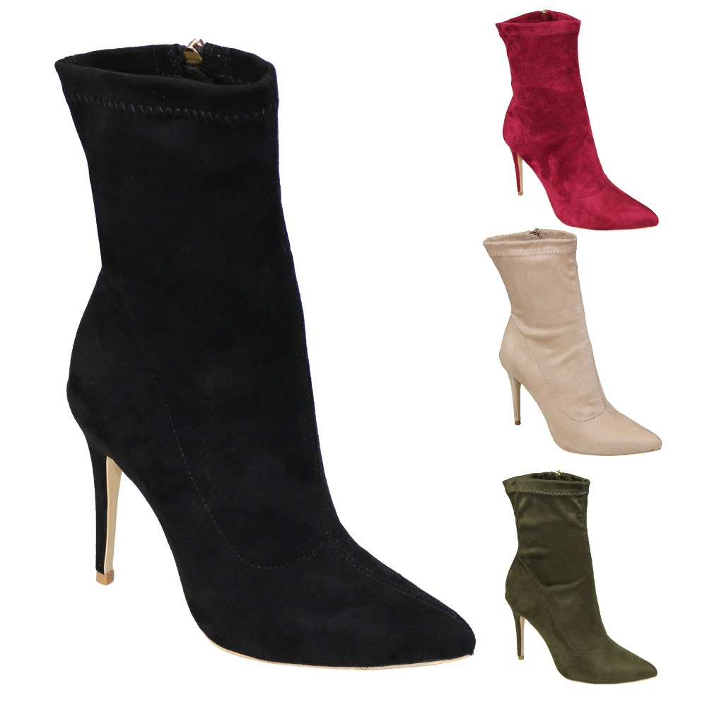 Bout Pointu Courtes brown Dames Mode Timetang 11 Qualité Bottes like Hauts Grey De dark blue Haute Daim 2018 À Black Nouvelle Mince Taille skyblue rose 3 Wine red red yellow green Simple La Sexy En nude Talons Pic purple 88zqa