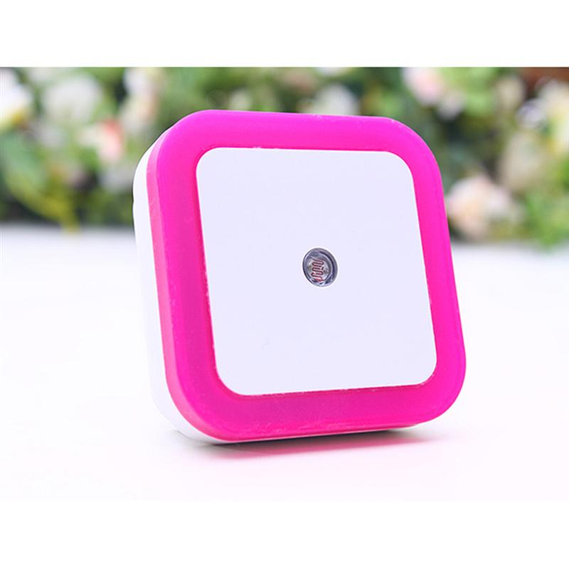 2017 Auto Sensor Control LED Night Light Baby Bedroom Lamp Novelty Square 0.5W White Night Lamp with US EU Plug