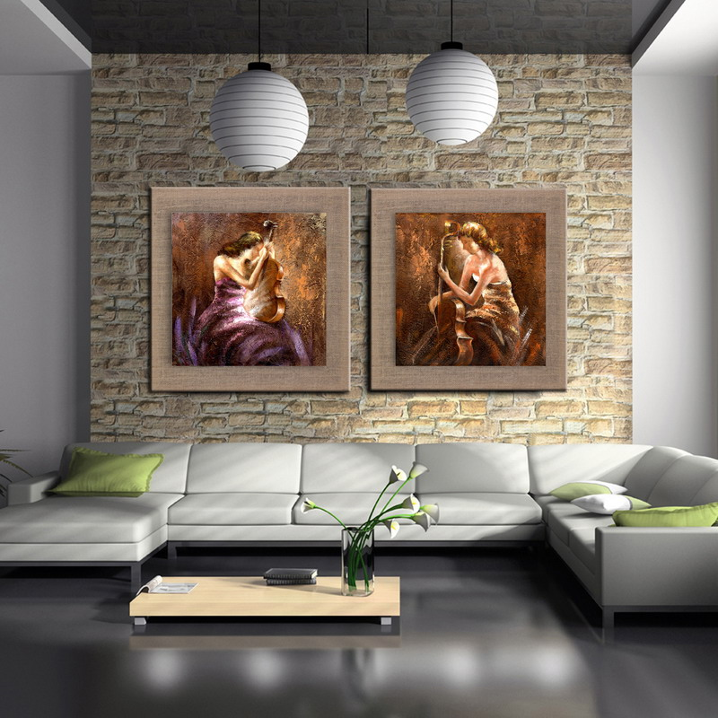 Free Shipping 100% Handmade Beautiful Girl Oil Paintings On linen Impression Modern Contemporary dancing Wall Art For home Decor