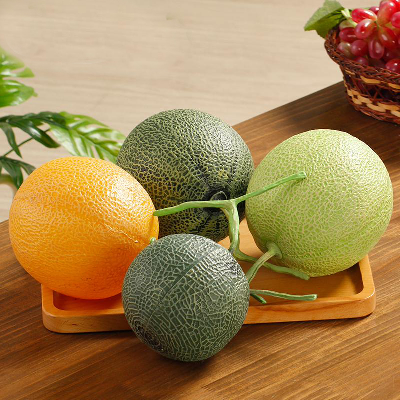 050 Imitation Hami melon fake plastic Hami melon cantaloupe fruit model cabinet decoration props in Artificial Foods Vegetables from Home Garden