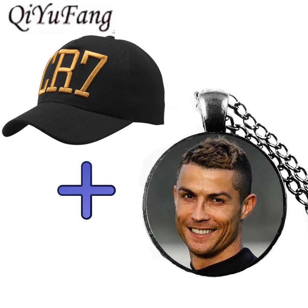 4780da6a4e899d QiYuFang New 2018 Cristiano Ronaldo CR7 Necklace Pendant Jewelry Glass  Cabochon Gift Cap For Fans Mens