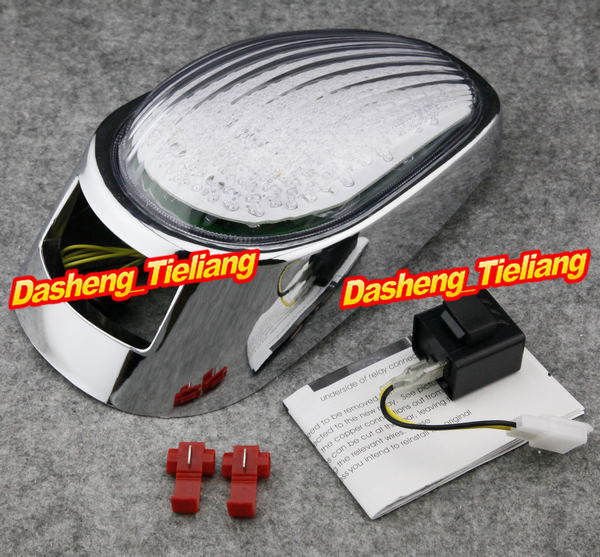 Integrated LED Motorcycle Tail Light / Taillight Turn Signals For Kawasaki Vulcan VN2000 2005 2006 2007, Parts & Accessory aftermarket free shipping motorcycle parts led tail brake light turn signals for honda 2000 2001 2002 2006 rc51 rvt1000r smoke