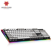 hot deal buy hexgears mechanical keyboard with backlight for overwatch csgo game backlit mechanic usb klavye rgb keyboards clavier gamer