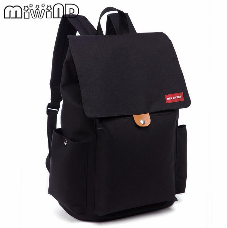 MIWIND Brand Men's Backpacks Bolsa Mochila for Laptop 15Inch Notebook Computer Bags Men Backpack School for Women 14 15 15 6 inch flax linen laptop notebook backpack bags case school backpack for travel shopping climbing men women