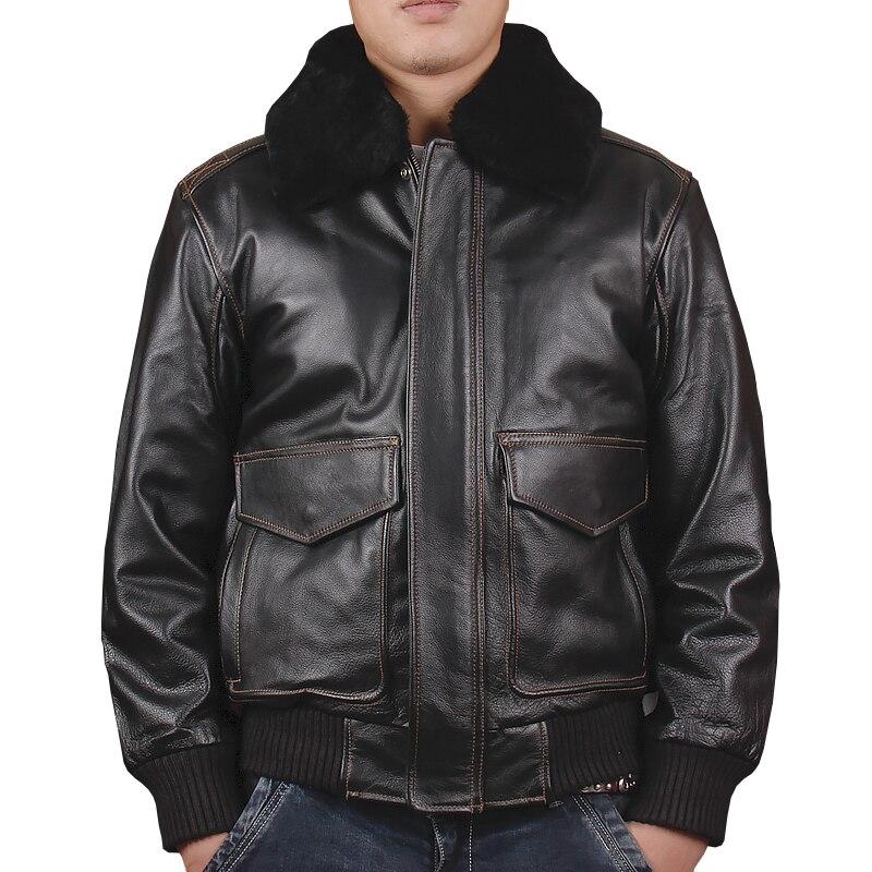 HARLEY Jack Wills черный Для мужчин ВВС США военный A2 пилот кожаная куртка Европа Размеры XXL натуральной плотной коровьей Авиатор кожаные пальто