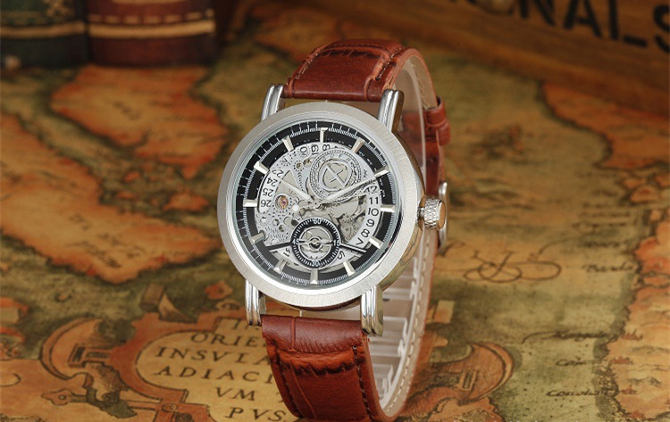 Vintage Pattern Men Business Dress Watches Fashion Calendar Analog Wristwatch Waterproof Brown Leather Relojes Brand 3ATM NW3179 classic fashion business designer men dress watches imported quartz calendar analog clock waterproof real leather relojes nw4233