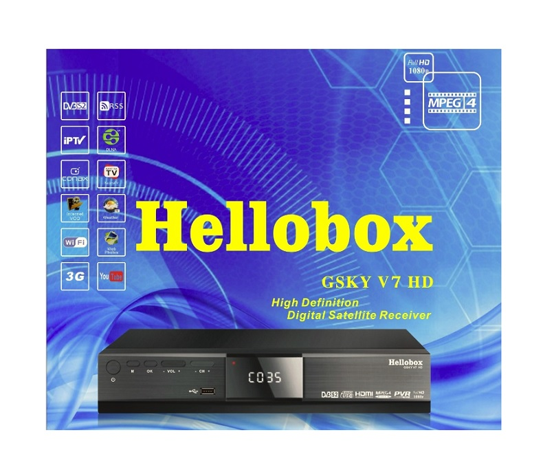 GSKY V7 HD Hellobox DVB S2 Powervu autoroll scam NTV+
