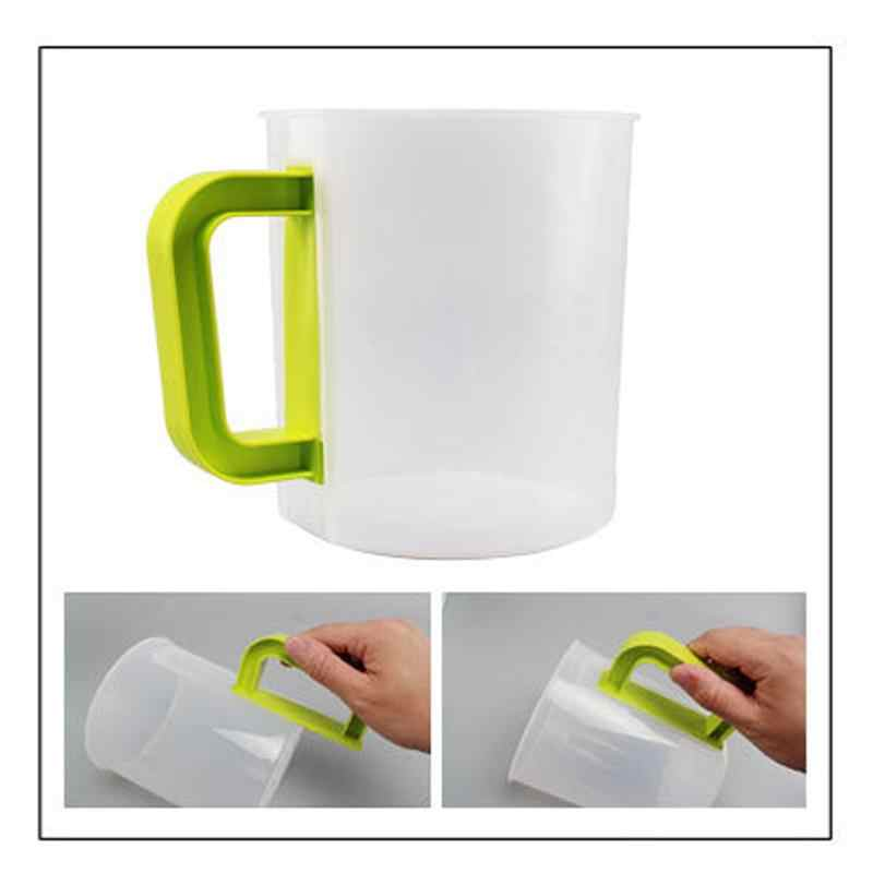 4PCS 1.5L Plastic Soy Milk Maker Filter Set Soy Milk Strainer Nut Milk Bag Alternative including Filter Cup Rod Brush