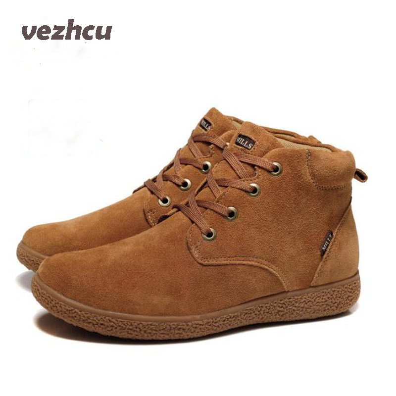 men shoes 100% Genuine Leather men Boots Classic Men's Winter Snow Boots Outdoor Work shoes Rubber Men Warm boots men boots 2015 men s winter warm snow boots genuine leather boots with plus velvet shoes high quality men outdoor work shoes