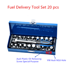 20pcs Oil pan screw socket wrench Oil draining tool Oil bottom screw Auto repair tools, hand tools car stying free shipping